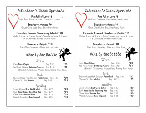 Valentine's Day Drink Specials