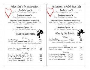 Valentine's Day Drink Specials