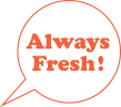 Always fresh logo