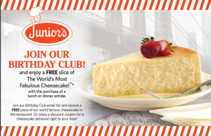 Join Junior's Birthday Club