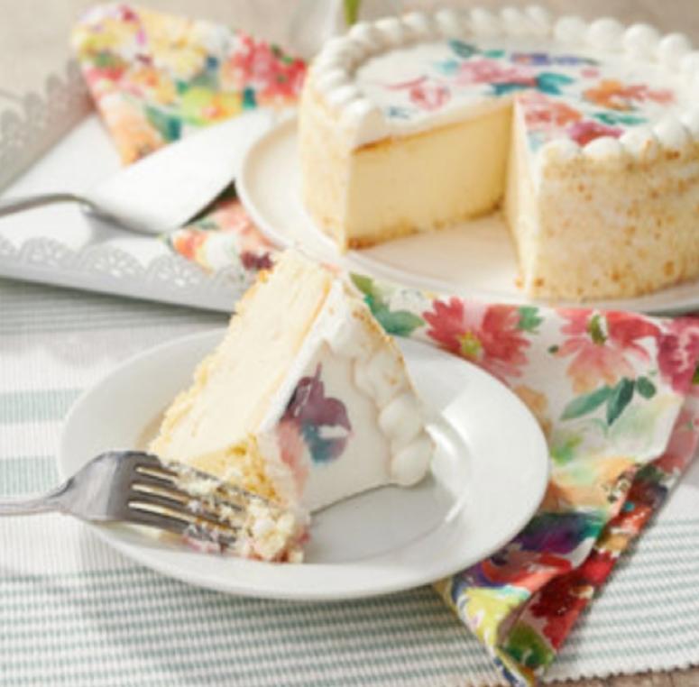 Flower Design Cheesecake