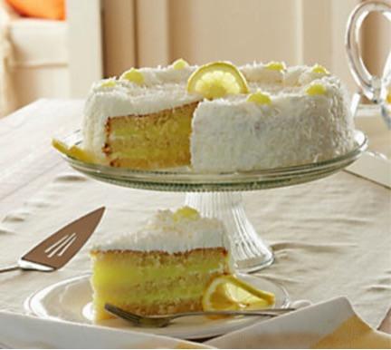 Lemon Coconut Layercake Extra Large- 5 Pounds