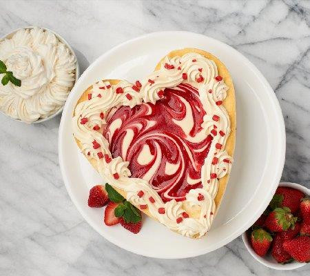 White Chocolate Strawberry Cheesecake Heart