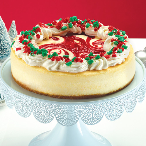 Special Edition strawberry christmas cheesecake