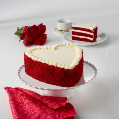 Red Velvet Heart Layercake