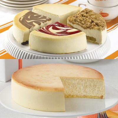 Best of Juniors Sampler and Plain Cheesecake