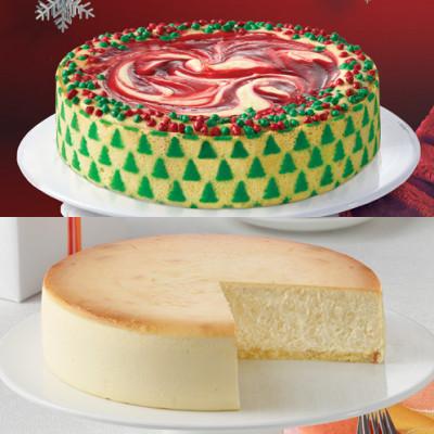 Christmas Swirl Designer and Plain Cheesecake