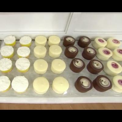 32 mini cheesecakes on platter