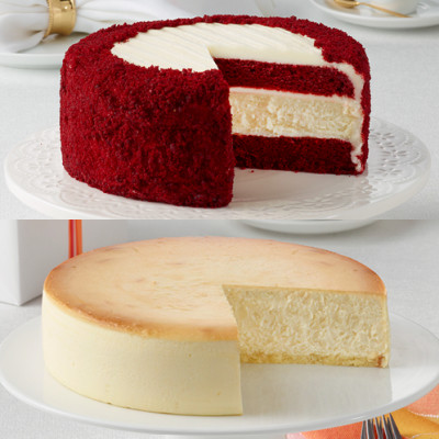 RED VELVET AND PLAIN CHEESECAKES