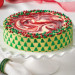 Strawberry Swirl Designer Christmas Cheesecake